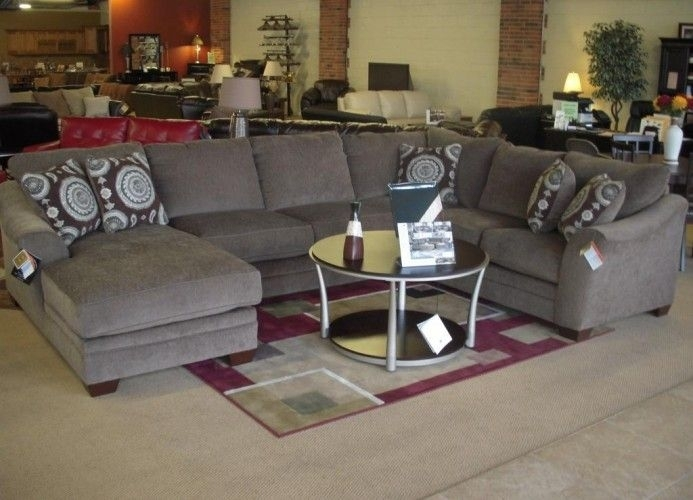 Sectional Sofa Design: Cool Image For Small U Shaped Sectional Sofa Regarding Gray U Shaped Sectionals (Image 6 of 10)