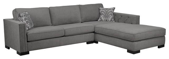 Sectional Sofa Design: Expendable Gray Sectional Sofa With Chaise In Living Spaces Sectional Sofas (Image 7 of 10)