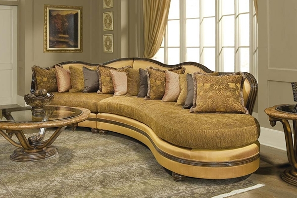 Sectional Sofa Design: High End Luxury Sectional Sofas Italian Sofa Pertaining To Gold Sectional Sofas (View 3 of 10)