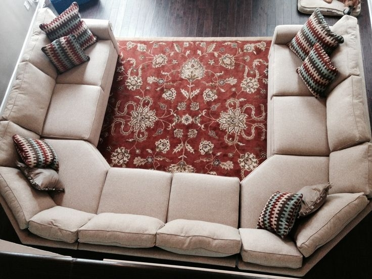 Sectional Sofa Design: U Shaped Sectional Sofas Groupings Chaise Pertaining To U Shaped Sectional Sofas (Image 5 of 10)