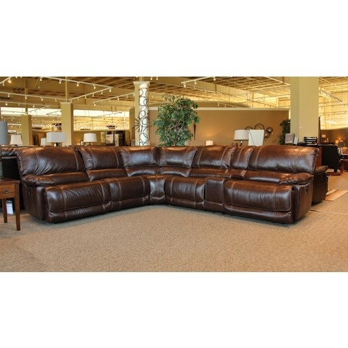 Sectional Sofa Design: Wonderful Leather Sectional Sofa With 6 Piece Throughout 6 Piece Leather Sectional Sofas (Image 7 of 10)
