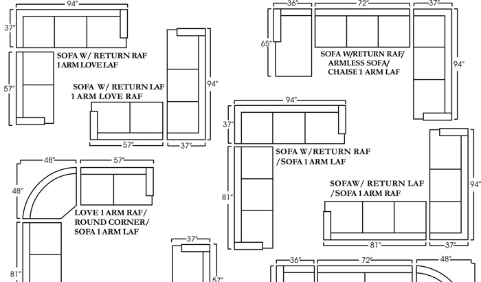 Sectional Sofa Dimensions | Freedom To Pertaining To Sectional Sofas By Size (View 5 of 10)