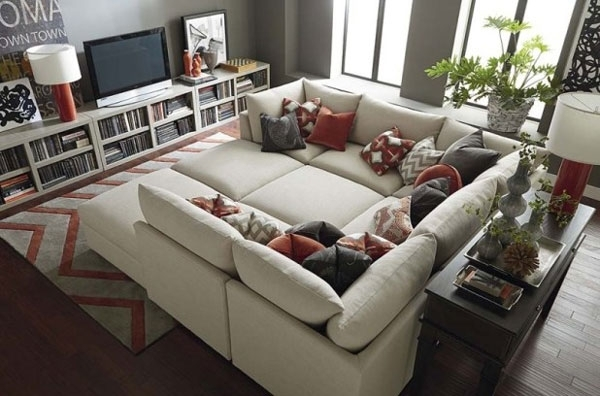 Sectional Sofa Extra Ordinary Large With Ottoman Plan 9 In Couches With Large Ottoman (Image 7 of 10)