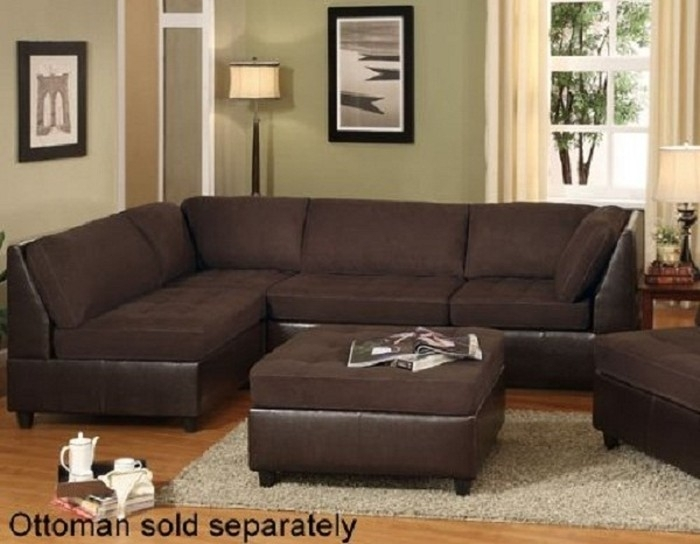 Sectional Sofa: Individual Piece Sectional Sofas Microfiber With Sectional Sofas That Come In Pieces (Image 10 of 10)