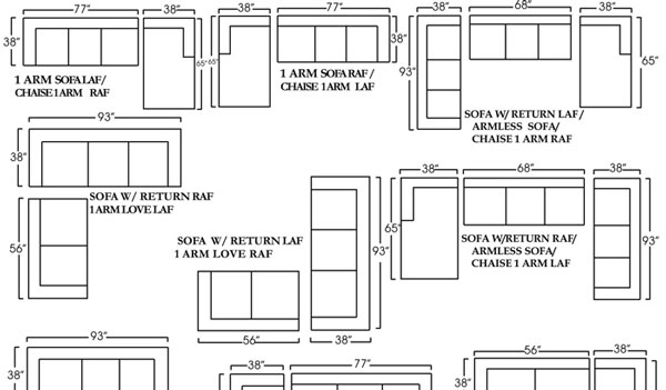 Sectional Sofa: Perfect Sectional Sofa Sizes Apartment Size With Sectional Sofas By Size (View 6 of 10)