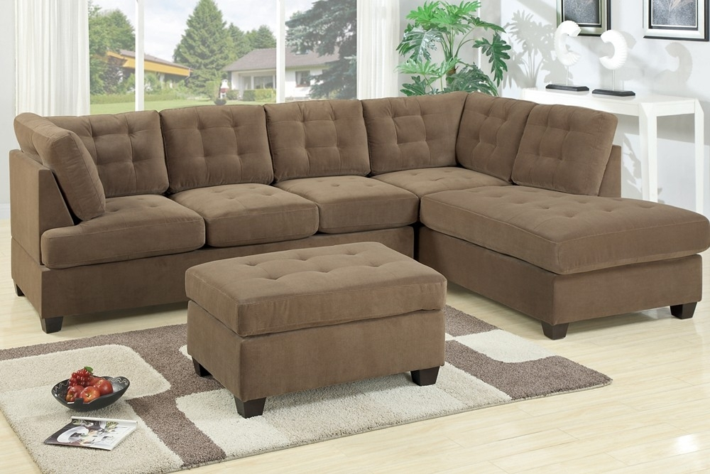 Sectional Sofa Waffle Suede For Sectional Sofas (Image 3 of 10)