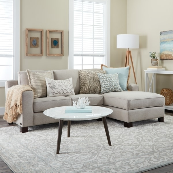Sectional Sofa With Chaise In Light Grey – Free Shipping Today Throughout Overstock Sectional Sofas (Image 9 of 10)