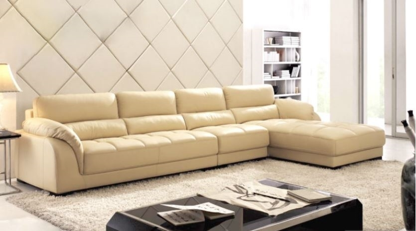 Sectional Sofa With Chaise | Leather Sectional | L Shaped Sectional Regarding Beige Sectional Sofas (Image 8 of 10)