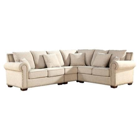 Sectional Sofa With Nailhead Trim – Wojcicki With Sectional Sofas With Nailheads (Image 7 of 10)