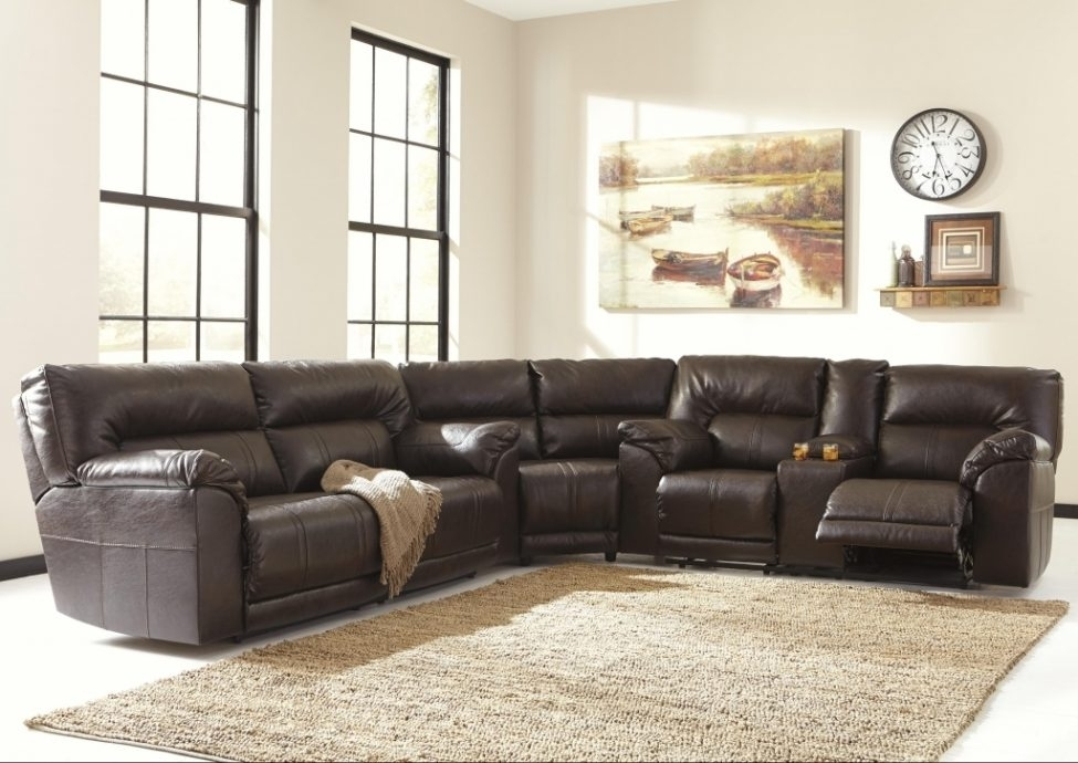Sectional Sofas: 3 Piece Reclining Sectionalbenchcraft | Wolf And In Gardiners Sectional Sofas (Image 6 of 10)