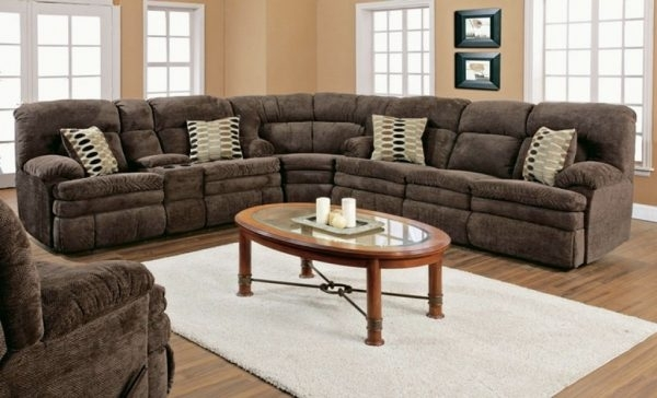 Sectional Sofas: 3 Piece Reclining Sectionalbenchcraft | Wolf And Throughout Gardiners Sectional Sofas (Image 7 of 10)