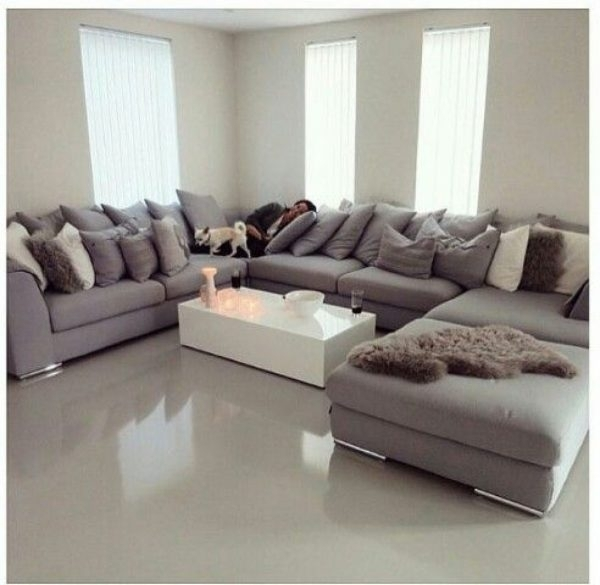 Sectional Sofas: Best 25 U Shaped Sofa Ideas On Pinterest | U Shaped With Regard To Huge U Shaped Sectionals (View 7 of 10)