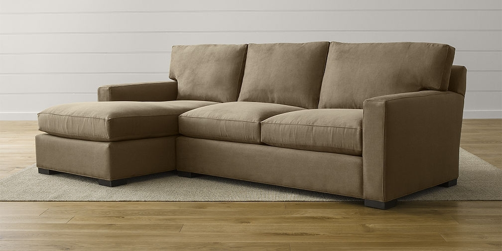 Sectional Sofas: Leather And Fabric | Crate And Barrel For Sectional Sofas (Image 7 of 10)