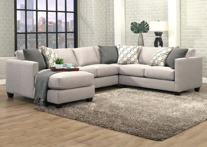 Sectional Sofas Orlando 3 Granite Fabric Upholstered Sectional Sofa Regarding Orlando Sectional Sofas (Image 9 of 10)