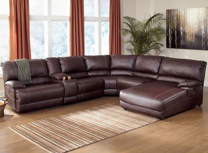 Sectional Sofas With Recliners | Ferrara Leather Recliner Sectional Intended For Sectional Sofas With Recliners Leather (Image 6 of 10)