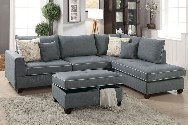 Sectional With Storage Ottoman (Furniture) In Visalia, Ca – Offerup Inside Visalia Ca Sectional Sofas (Image 9 of 10)