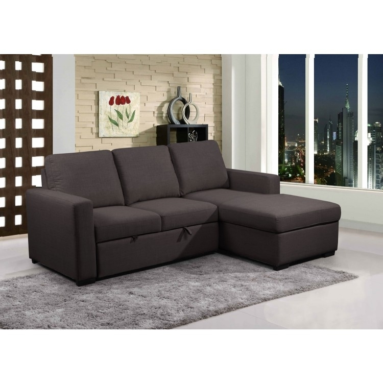 Sectionals | Primo Grey Fabric Sleeper | Lastman's Bad Boy With Regard To Sectional Sofas At Bad Boy (View 7 of 10)