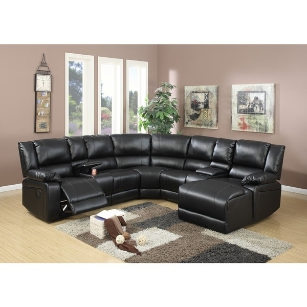 Segudet Bonded Leather Motion Sectional Sofa – Free Shipping Today Regarding Leather Motion Sectional Sofas (View 9 of 10)