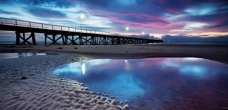 Semaphore Beach And Jetty Printed Canvas Wall Art Eluxury Home Pertaining To Jetty Canvas Wall Art (Image 20 of 20)