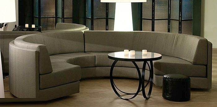 Semicircular Sofa / Contemporary / Fabric / 7 Seater And Up Pertaining To Semicircular Sofas (Image 8 of 13)