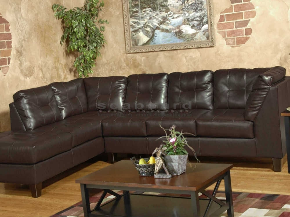 Serta San Marino Chocolate Laf Sectional 2500 Intended For Chocolate Sectional Sofas (Image 9 of 10)