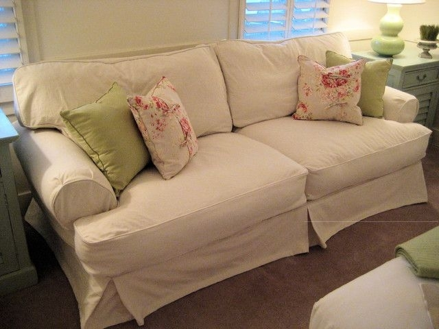 Shabby Chic Sofas And Shabby Chic Cottage Slipcovered Sofa Pertaining To Shabby Chic Sofas (View 8 of 10)