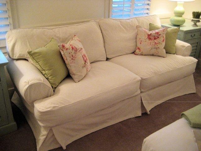 Shabby Chic Sofas And Shabby Chic Cottage Slipcovered Sofa Pertaining To Shabby Chic Sofas (Image 8 of 10)