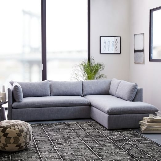 Shelter 2 Piece Terminal Chaise Sectional | West Elm For Sectional Sofas With 2 Chaises (View 1 of 10)