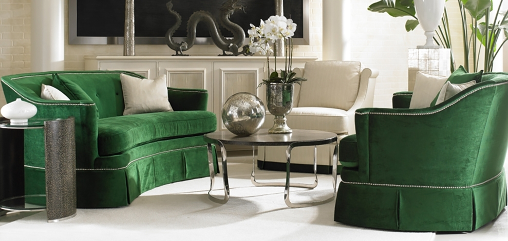 Sherrill Furniture  Home Regarding Green Sofa Chairs (Image 6 of 10)