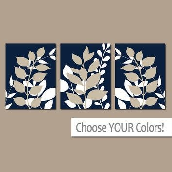 Shop Foliage Wall Art On Wanelo Intended For Navy Canvas Wall Art (View 7 of 20)
