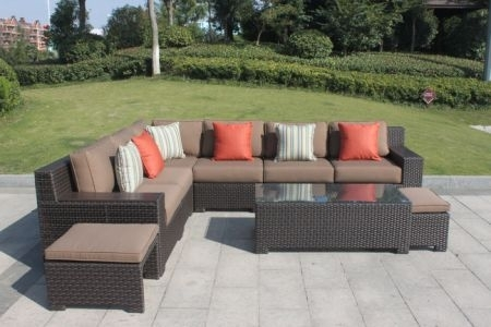Shop For Higreen Outdoor Kingston 9 Piece Patio Wicker Sectional In Kingston Ontario Sectional Sofas (Image 8 of 10)
