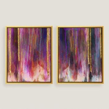 Shop Gold Leaf Wall Art On Wanelo In Canvas Wall Art In Purple (Image 19 of 20)