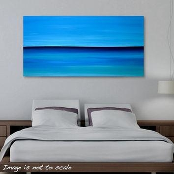 Shop Large Abstract Ocean Canvas Art On Wanelo Pertaining To Abstract Horizon Wall Art (Image 16 of 20)