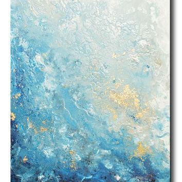 Shop Large Abstract Ocean Canvas Art On Wanelo Within Abstract Ocean Wall Art (Image 16 of 20)