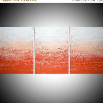 Shop Large Orange Abstract Canvas Art On Wanelo In Abstract Orange Wall Art (Image 15 of 20)