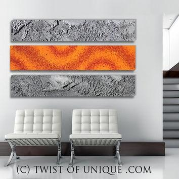 Shop Metallic Silver Paint For Walls On Wanelo With Regard To Abstract Orange Wall Art (Image 16 of 20)