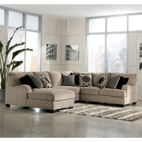 Signature Designashley Furniture Katisha – Platinum 4 Piece With Regard To Dallas Texas Sectional Sofas (Image 10 of 10)