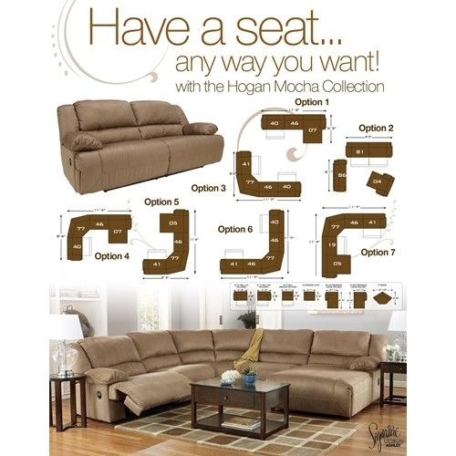 Signature Designashley Hogan – Mocha Reclining Living Room Group Regarding Memphis Sectional Sofas (Image 9 of 10)