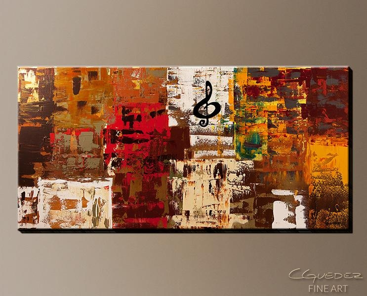 Signed Fine Art Canvas Prints And Posters Of Contemporary Abstract Inside Music Canvas Wall Art (View 2 of 20)