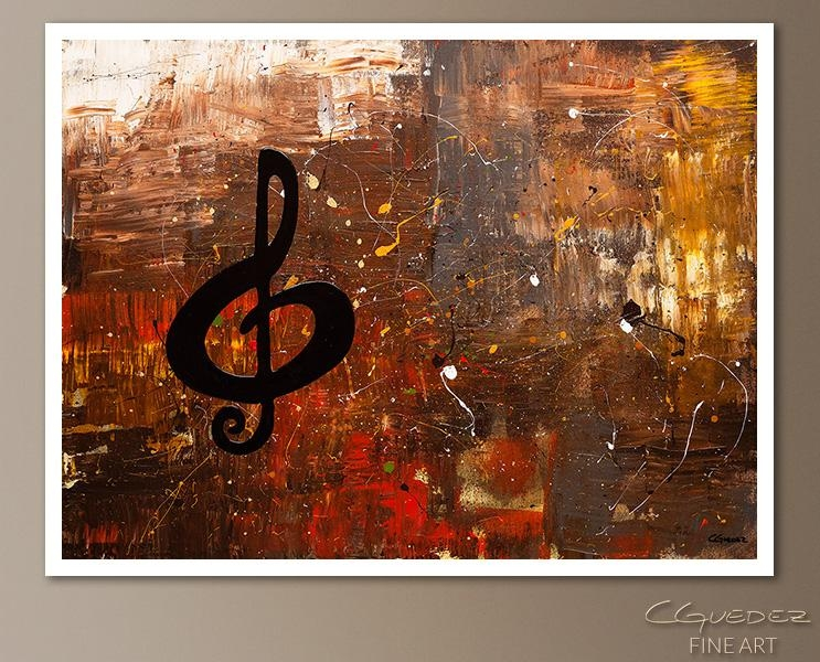 Signed Fine Art Canvas Prints And Posters Of Contemporary Abstract Regarding Music Canvas Wall Art (View 17 of 20)