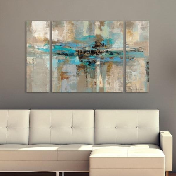 Silvia Vassileva Morning Fjord 3 Piece Canvas Wall Art Set – Free With Regard To Overstock Abstract Wall Art (View 3 of 20)