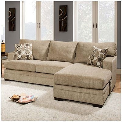 Simmons® Columbia Stone Sofa With Reversible Chaise At Big Lots (Image 9 of 10)