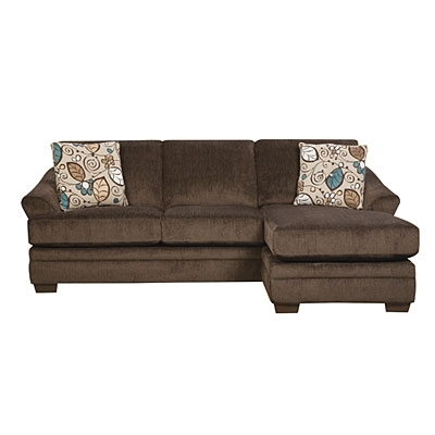 Simmons® Sunflower Brown Sofa With Reversible Chaise At Big Lots With Simmons Chaise Sofas (Image 8 of 10)