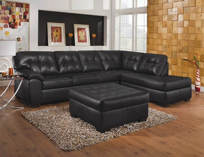 Simmons Upholstery Showtime Shi Soho Black Onyx Sectional Sofa, Acme In Simmons Chaise Sofas (Image 4 of 10)
