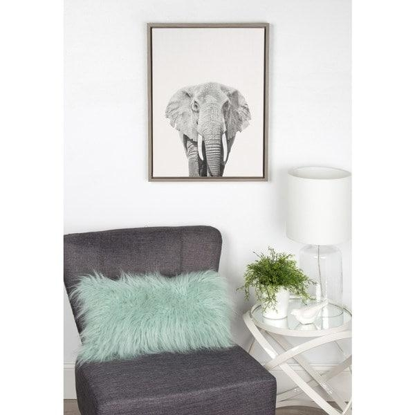 Simon Te Tai Designovation 'sylvie Elephant' Canvas Wall Art With Intended For Grey Canvas Wall Art (View 13 of 20)