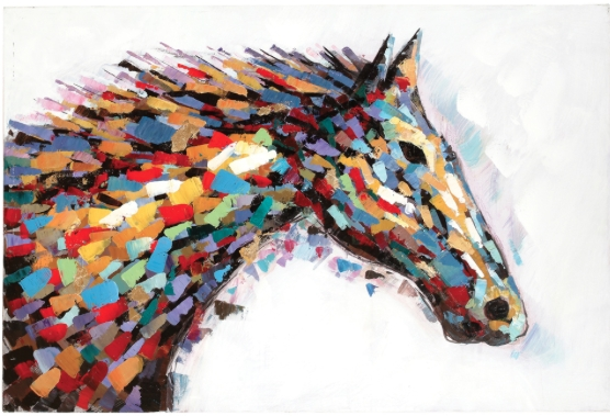 Simple 10+ Western Wall Art Decorating Design Of Header Western In Abstract Horse Wall Art (Image 15 of 20)