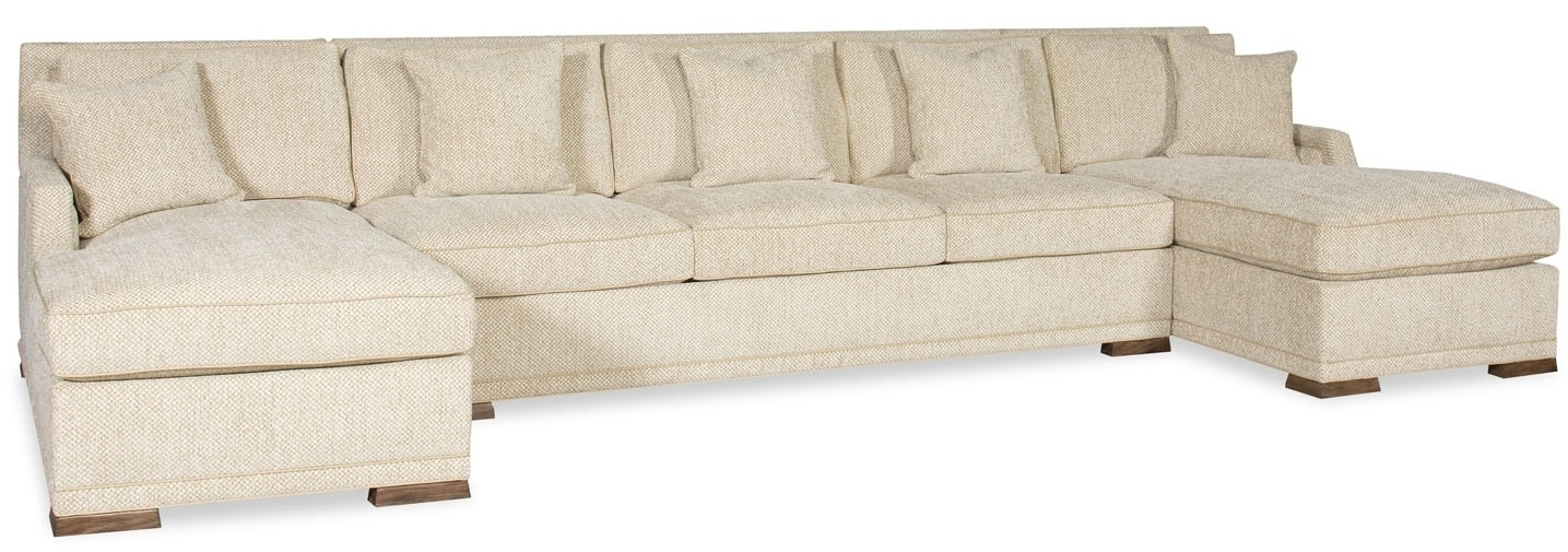Simple Style Large Sectional Sofa With 2 Chaises 9887 Regarding Sectional Sofas With 2 Chaises (Image 7 of 10)