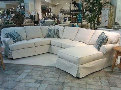 Slipcover For Sectional Sofa With Chaise – Youtube With Sectional Sofas With Covers (Image 7 of 10)