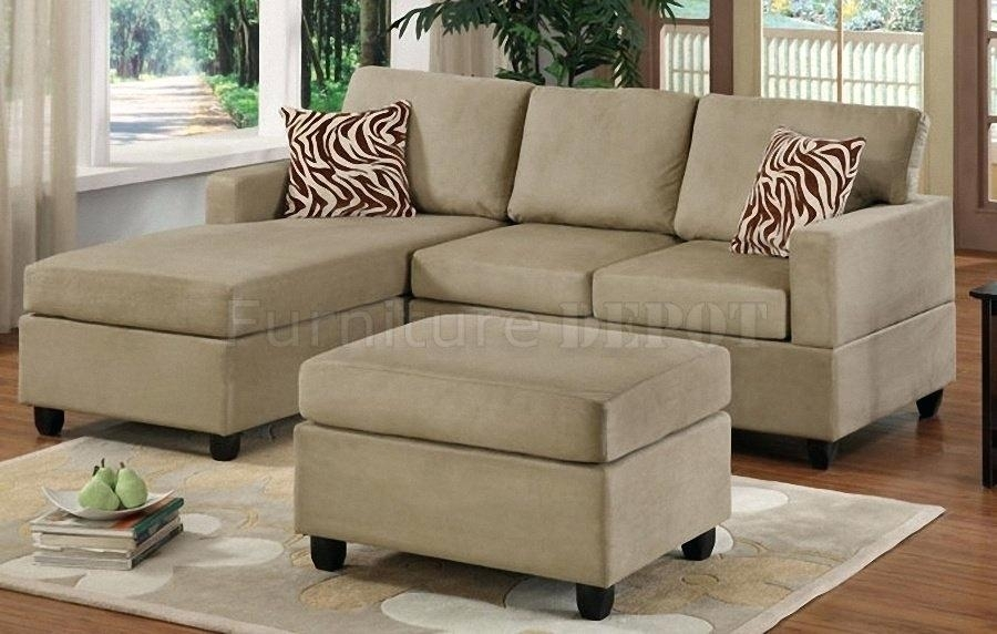 Small Sectional Sofa Modern Sectional Sofa For Small Spaces Small Pertaining To Small Sectional Sofas With Chaise And Ottoman (Image 9 of 10)