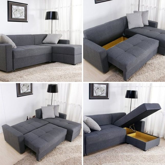 Small Space Solutions: 12 Cool Pieces Of Convertible Furniture Throughout Sectional Sofas That Turn Into Beds (Image 9 of 10)